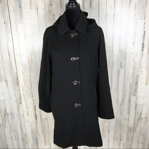 London Fog All Weather Toggle Trench Coat Jacket L